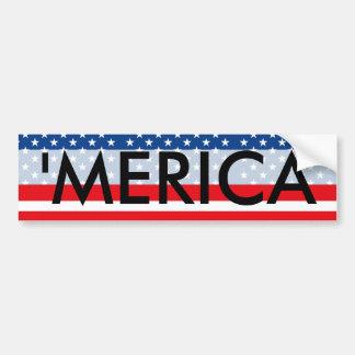 「MERICA愛国心が強い米国 バンパーステッカー