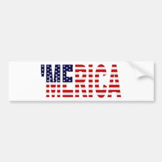 「MERICA米国の旗のバンパーステッカー バンパーステッカー
