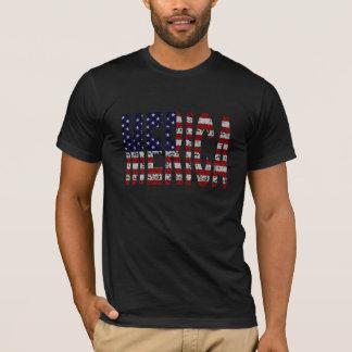 MERICA -誇りを持ったなアメリカの俗語の旗の手紙 Tシャツ