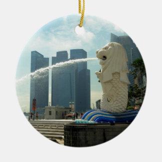 Merlionの彫刻シンガポール セラミックオーナメント