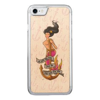 mermaid_mspink_slimwood carved iPhone 8/7 ケース