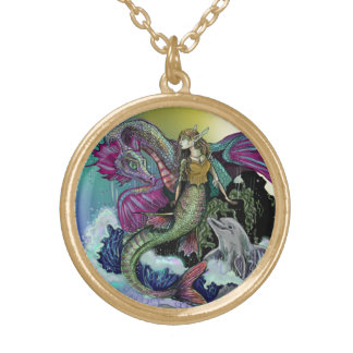 Mermaid~necklace ゴールドプレートネックレス