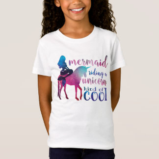 Mermaid Riding Unicorn Colorful cool quote Tシャツ