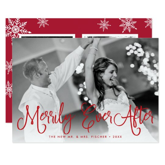 Merrily Ever After Holiday Card w/ Back Message カード