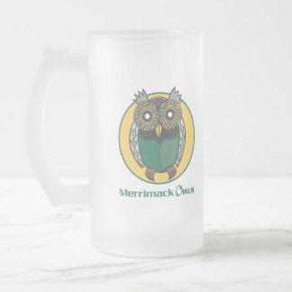 Merrimackのフクロウのロゴ フロストグラスビールジョッキ