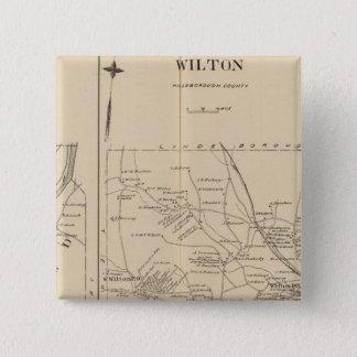 Merrimack、Litchfield、ウィルトン、ピーターバラPO 5.1cm 正方形バッジ