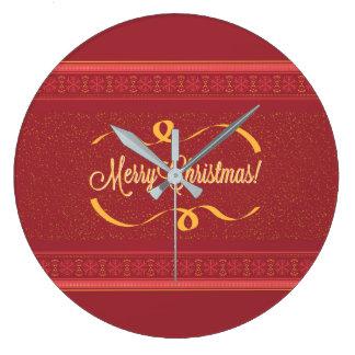 Merry Christmas ラージ壁時計