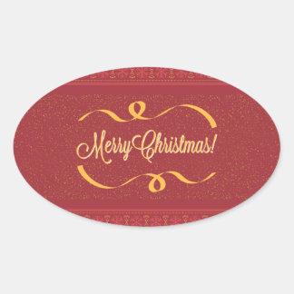 Merry Christmas 楕円形シール