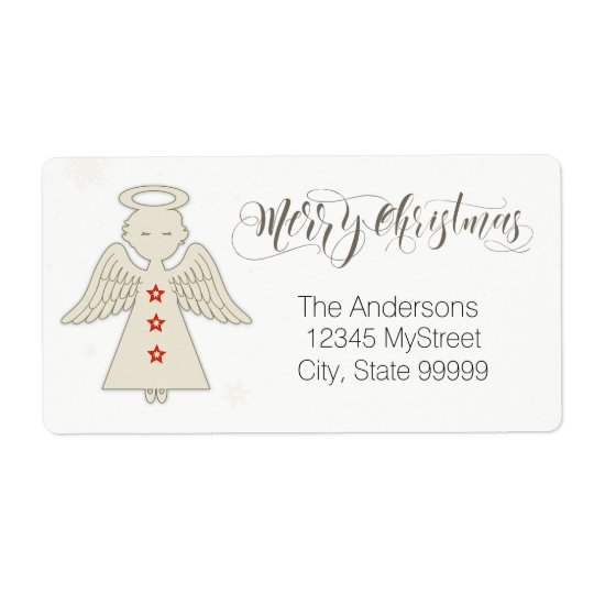 Merry Christmas Angel ラベル