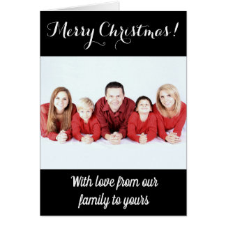 Merry Christmas cards customizable カード