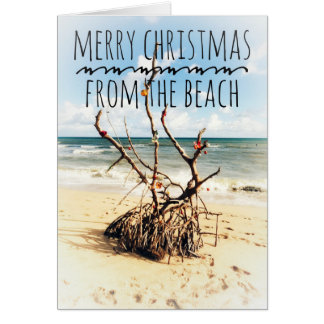 Merry Christmas from the beach card カード