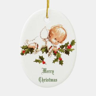 Merry Christmas Little Angel セラミックオーナメント