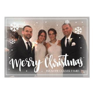 Merry Christmas Snowflake Card カード