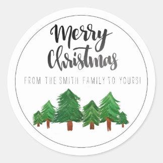 Merry Christmas Sticker ラウンドシール