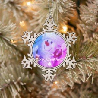 Merry Christmas!:The Snowman スノーフレークピューターオーナメント