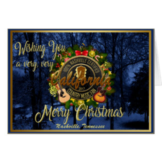 Merry Christmas to a California Country Music Fan カード