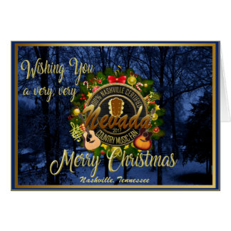 Merry Christmas to a Nevada Country Music Fan カード