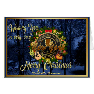 Merry Christmas to a New York Country Music Fan カード