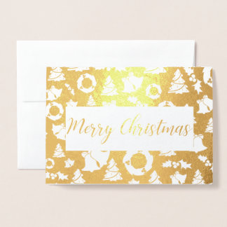 merry christmas Tree Golden Foil Card 箔カード