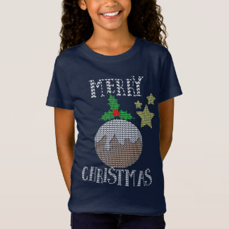 Merry Christmas Ugly Sweater Pattern Xmas Graphic Tシャツ