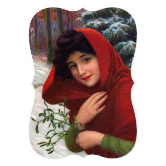 Merry Mistletoe Maiden Invitation カード