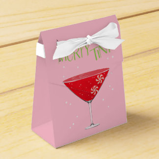 Merry-tini Merry Martini Holiday Party Favor Boxes フェイバーボックス