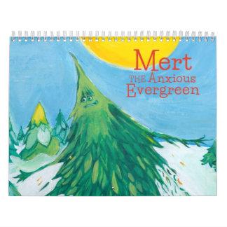 Mert心配する常緑のカレンダー カレンダー
