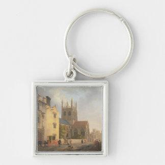 Mertonの大学、オックスフォード1771年(キャンバスの油) キーホルダー