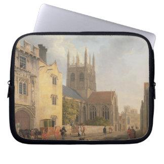 Mertonの大学、オックスフォード1771年(キャンバスの油) ラップトップスリーブ