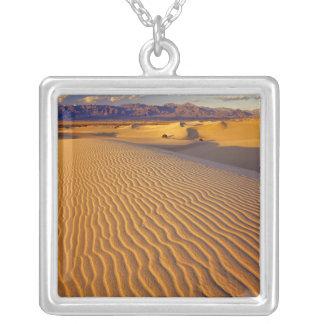 Mesquiteのデスヴァレーの平らな砂丘 シルバープレートネックレス
