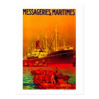 Messageries MaritimesのヴィンテージPosterEurope ポストカード