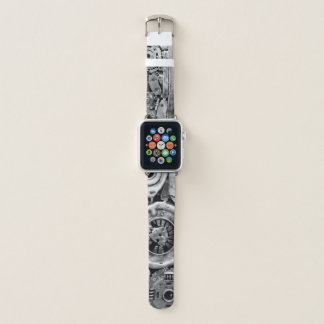 Metal parts fused BW Apple Watchバンド