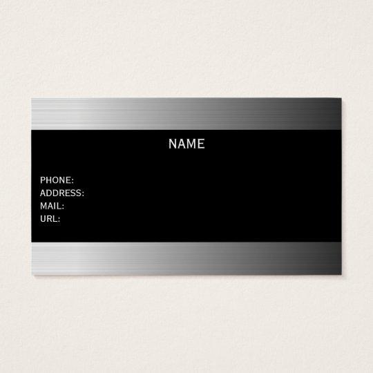 metallic businesscard 名刺