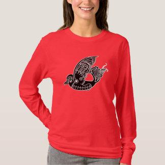 Metallonの鳥のTシャツ(パッチのスタイル) Tシャツ