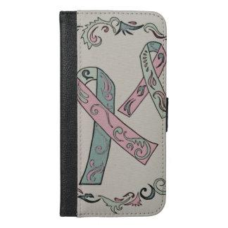 Metastatic乳癌のリボン iPhone 6/6s Plus ウォレットケース