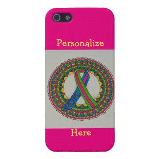 Metastatic乳癌の認識度のための曼荼羅 iPhone 5 Case