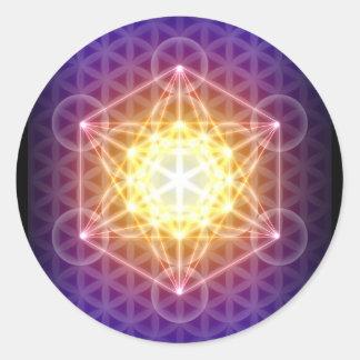 Metatronの円形生命ステッカーの立方体か花- ラウンドシール