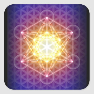 Metatronの生命ステッカーの立方体か花 スクエアシール