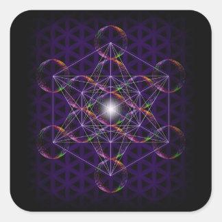 Metatronの生命#2の立方体か花 スクエアシール