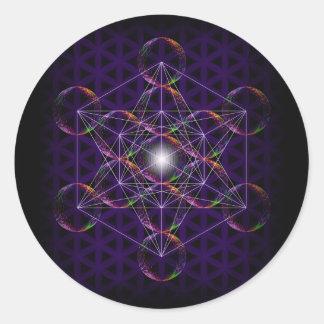 Metatronの生命#2の立方体か花 ラウンドシール