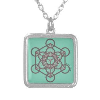 Metatronの立方体 シルバープレートネックレス