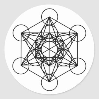 Metatronの立方体 ラウンドシール