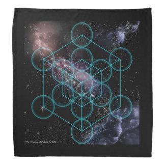 Metatronsの明示の立方体 バンダナ