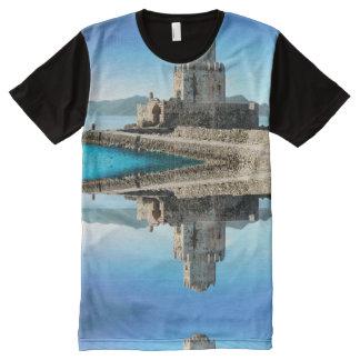 Methoniの城、ギリシャのTシャツ オールオーバープリントT シャツ