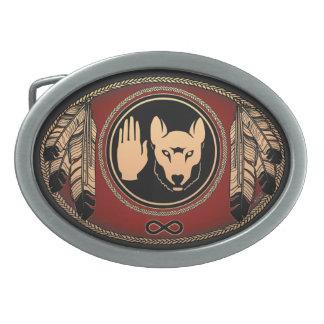 Metisのベルトの留め金のMetisの暴動のオオカミのベルトの留め金 卵形バックル