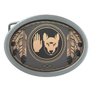 Metisのベルトの留め金のMetisの暴動のオオカミの旗のバックル 卵形バックル