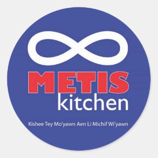 Metisの台所ステッカー ラウンドシール