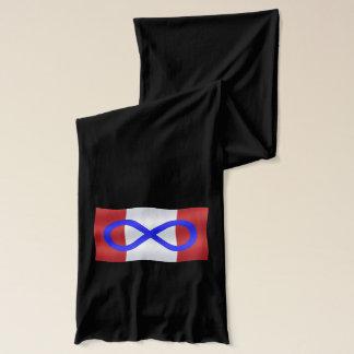 Metisの旗のスカーフのカナダ人のMetisのプライドのスカーフ スカーフ
