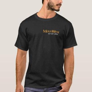 MetroWestのコミュニティ黒のTシャツ Tシャツ