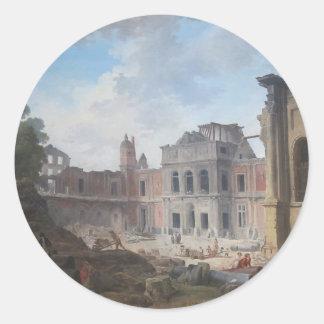 MeudonヒューバートロバートのChâteauの破壊 ラウンドシール